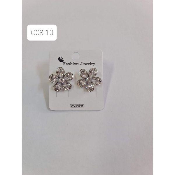 Cercei floare cu pietricele G08-10