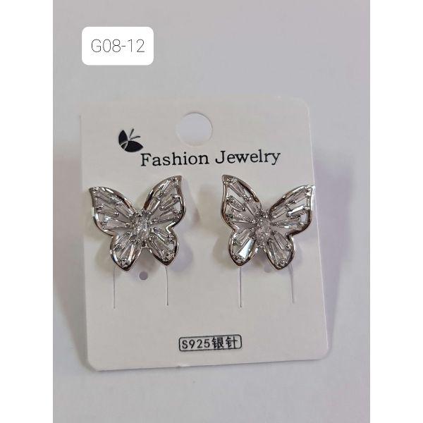Cercei fluture cu pietricele G08-12