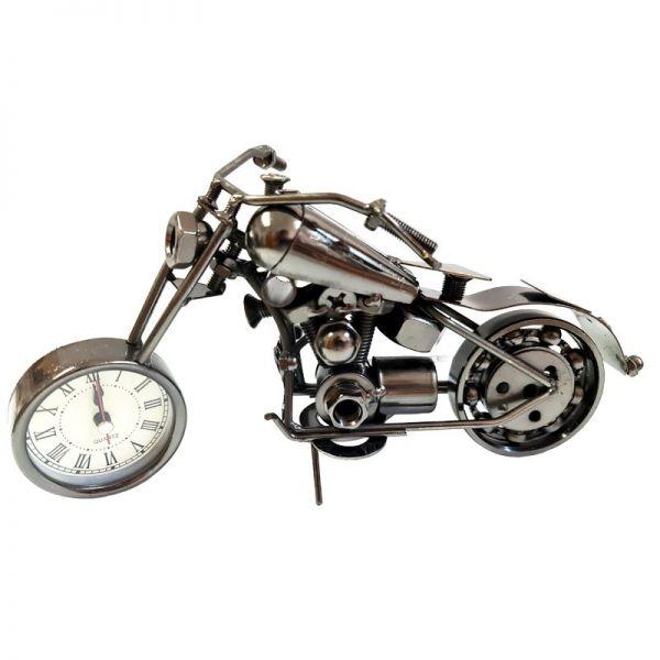Macheta motocicleta din metal cu ceas G09-17