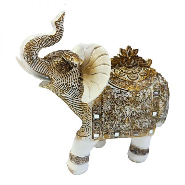 Bibelou elefant din rasina trompa ridicata G11-12