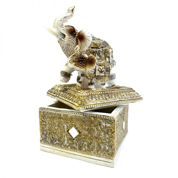 Caseta de bijuterii elefant pe capac G11-15