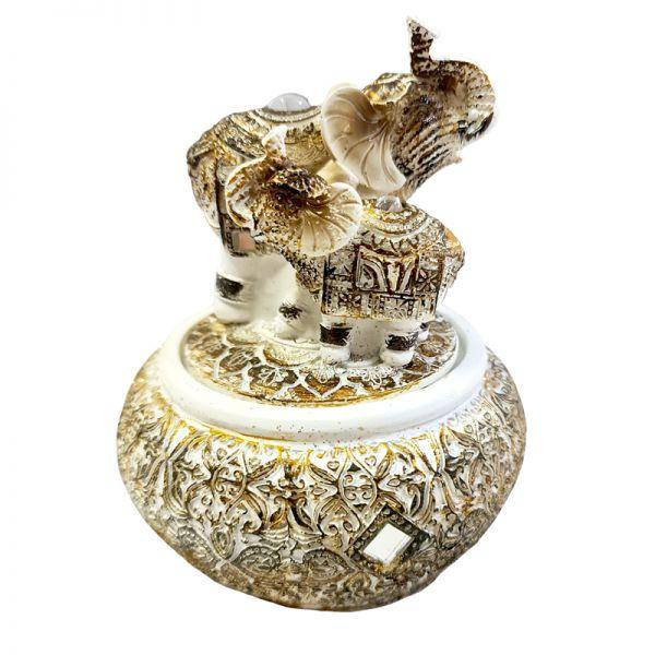 Caseta de bijuterii elefant pe capac G11-16