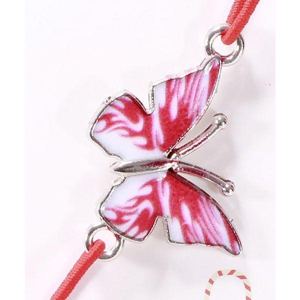 Bratara fluture email roz martisoare Z27-01