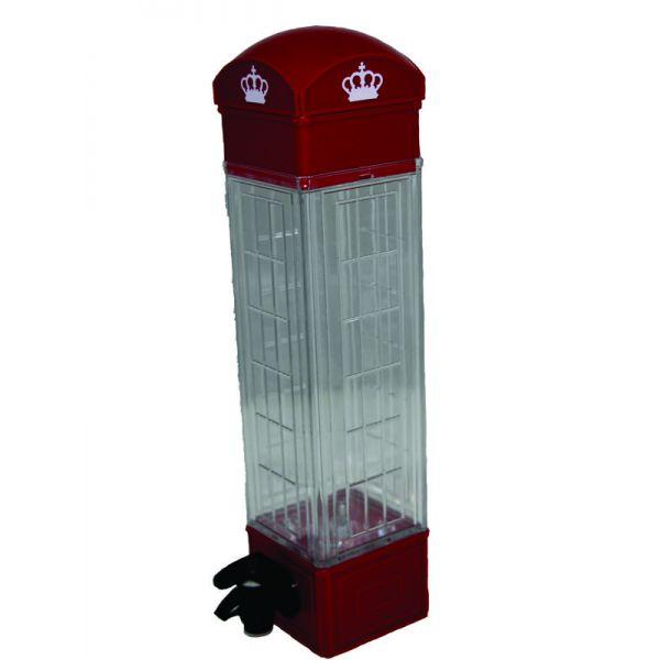 Dozator pentru bauturi cabina telefonica