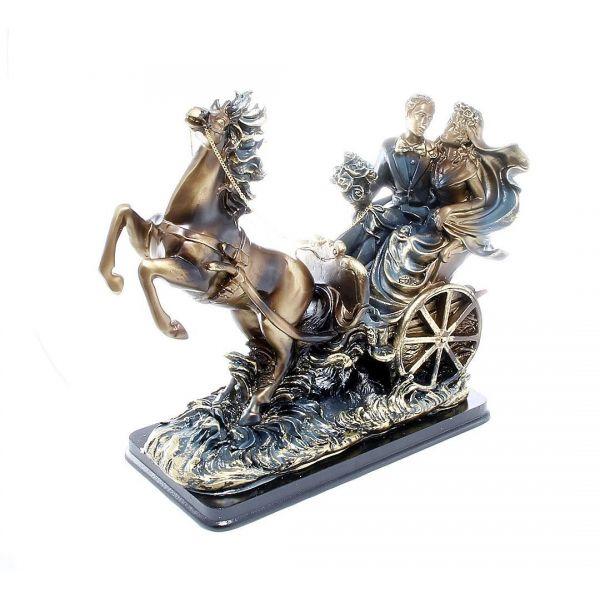 Statueta cuplu in trasura