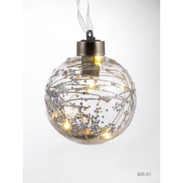 Glob Craciun cu lumina brad B05-01