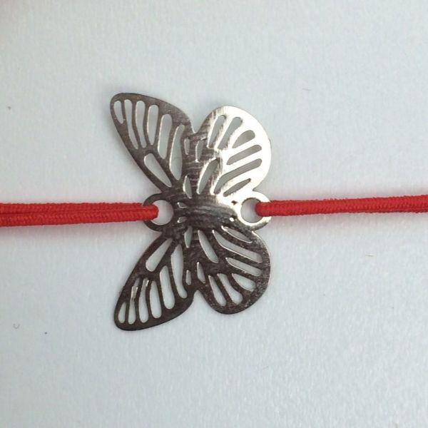 Bratara fluture argintiu X99-04