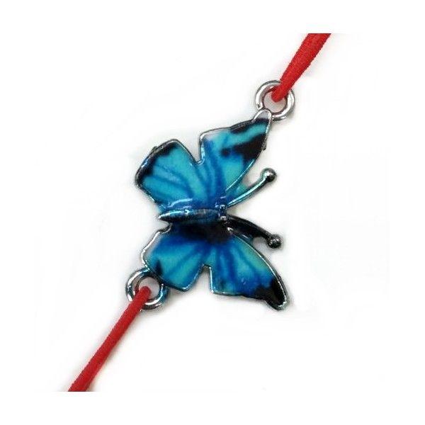 Bratara fluture email albastru Z27-02