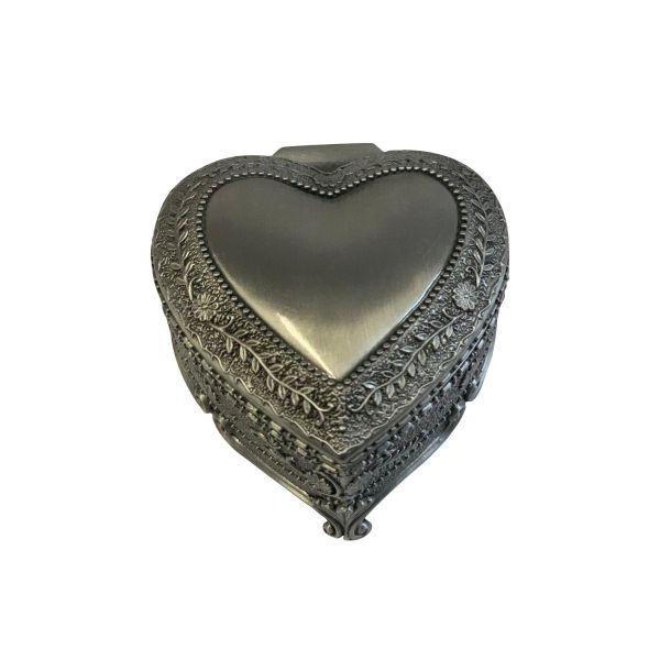 Caseta de bijuterii inima antimoniu Z50-13