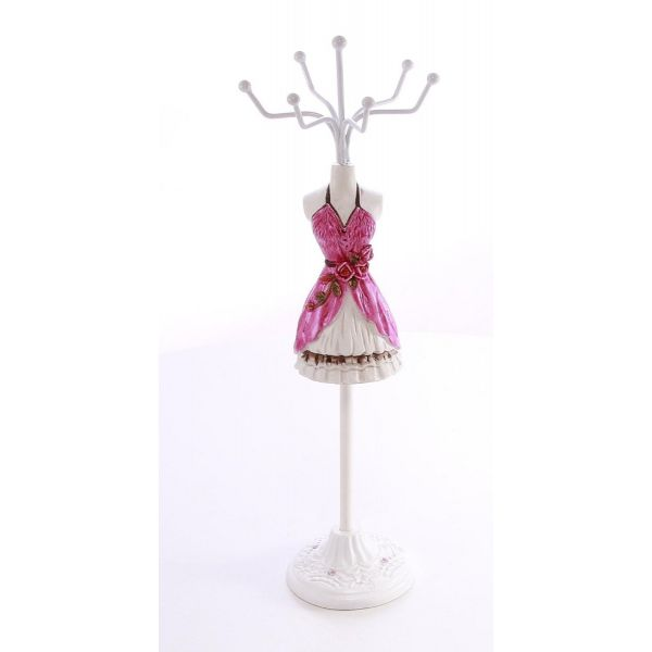 Suport bijuterii rochie roz